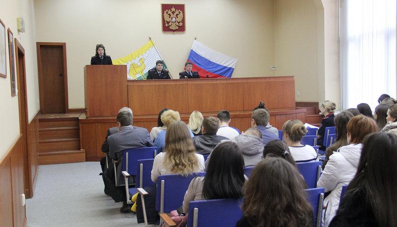 в УМВД России по городу Челябинску состоялась встреча студентов 5 курса